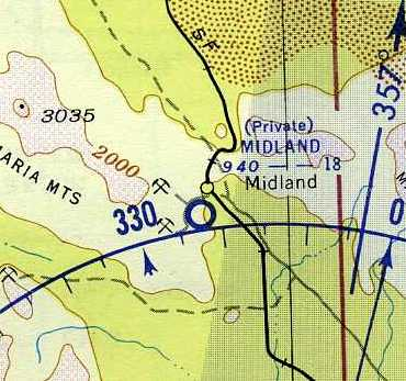 The 1952 Usgs Topo Map Depicted Midland Airport As Having A Single North South Runway Labeled Simply As Landing Strip