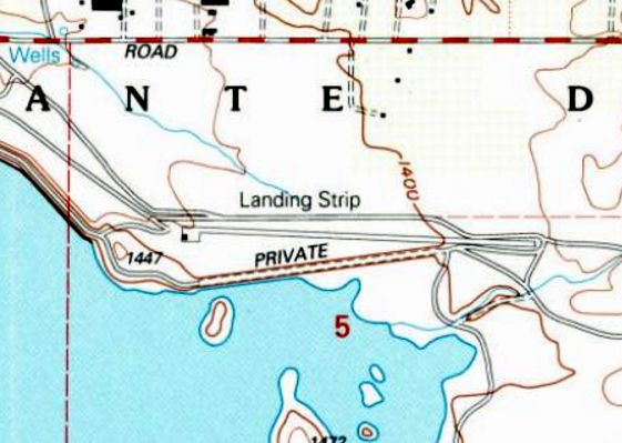 The 1997 Usgs Topo Map Depicted The Single Paved East West Runway Ramp And Hangar Of Lake Mathews Airport But Labeled It Simply As Landing Strip