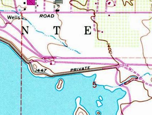 The 1988 Usgs Topo Map Depicted The Single Paved East West Runway Ramp And Hangar Of Lake Mathews Airport But Without Any Label