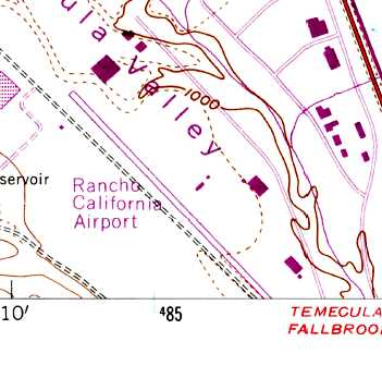 The 1973 Usgs Topo Map Depicted The Rancho California Airport As Having A Single Northwest Southeast Paved Runway
