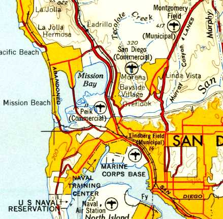 Topographic Map Of San Diego.Abandoned Little Known Airfields California Southern San Diego Area