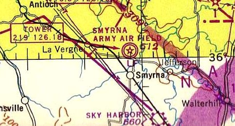 36af16e9aa1 The only aeronautical chart depiction which has been located of Sky Harbor  was on the October 1946 Nashville Sectional.