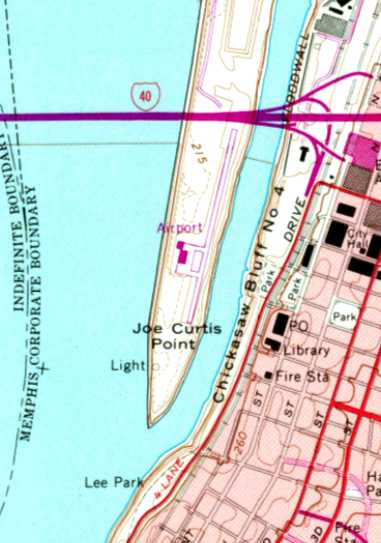 62ae871fd59 The last depiction which has been located showing Mud Island Airport still  open was on the 1970 USGS topo map.