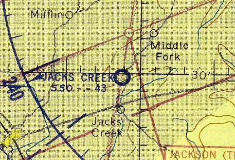 d6030df7332 The last aeronautical chart depiction which has been located of Jacks Creek