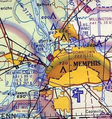2d2e4fa76b8 The earliest aeronautical chart depiction which has been located of Memphis  Downtown Airport was on the 1965 Little Rock Sectional Chart (courtesy of  John ...
