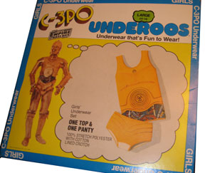 underoos c3po When you're an adult, it's somewhere between the third or fourth beer.