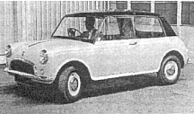The XC9002. Issigonis' original 1959 rear wheel drive design for the ADO-16.