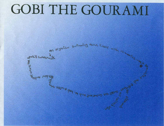 concrete poem gobi the gourami