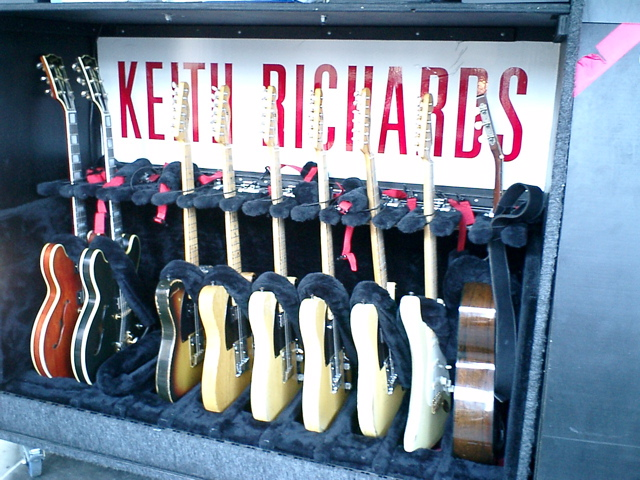 Keith richards guitar collection