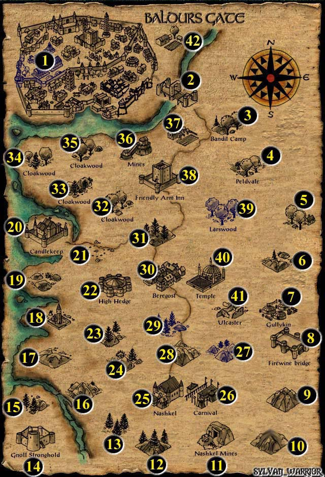 Forgotten Realms World Map