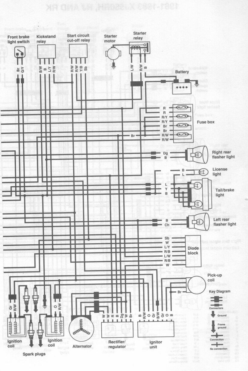 1983 yamaha xj 750 wire diagram  1983  free engine image