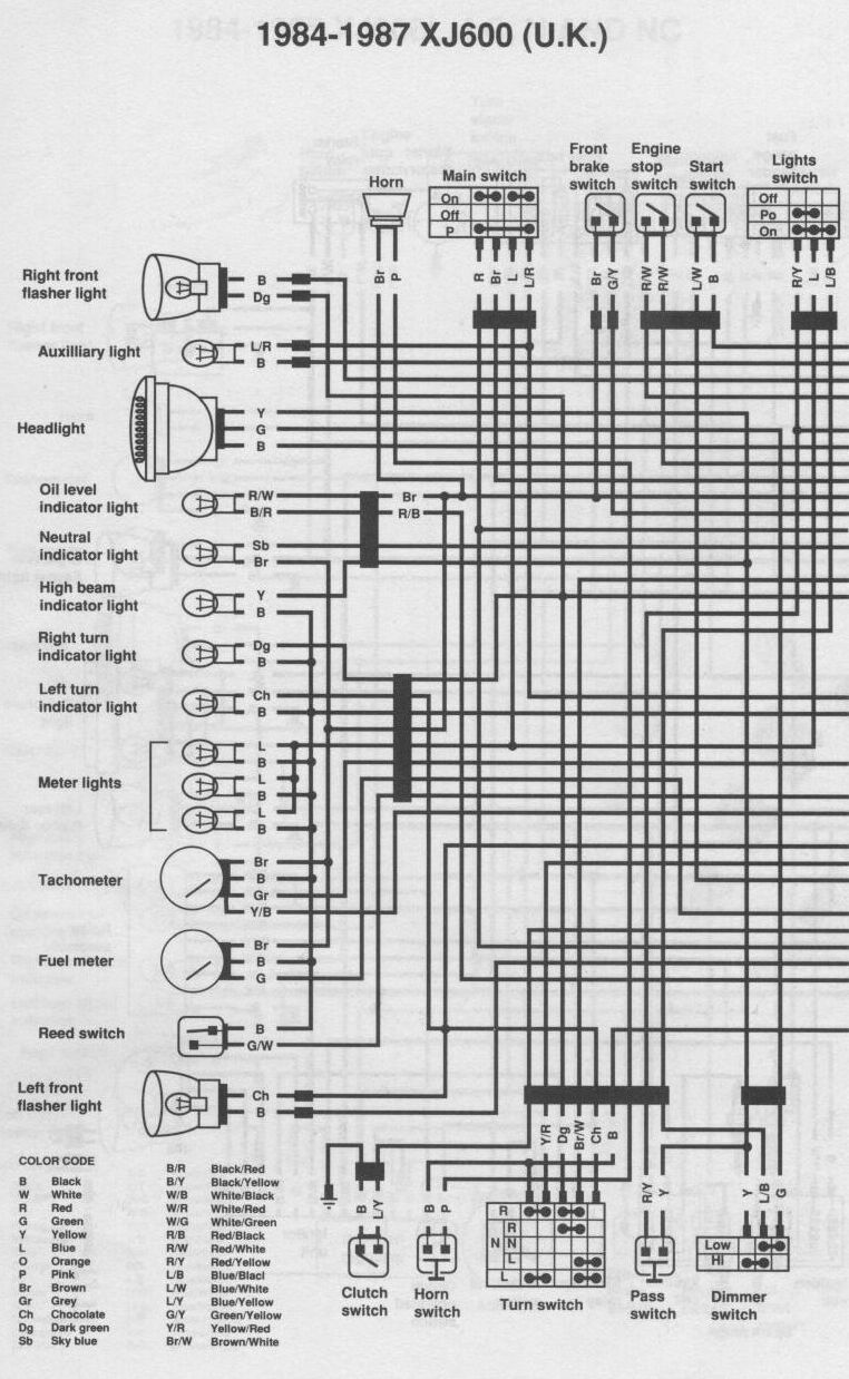 Xj600 51j Wiring Diagram - House Wiring Diagram Symbols •
