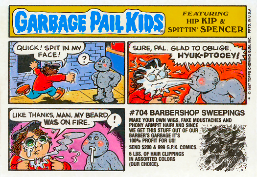 Garbage Pail Kids Original Series 8 Reverse Art Gallery Gpk World