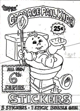 garbage pail kids coloring pages - photo#14