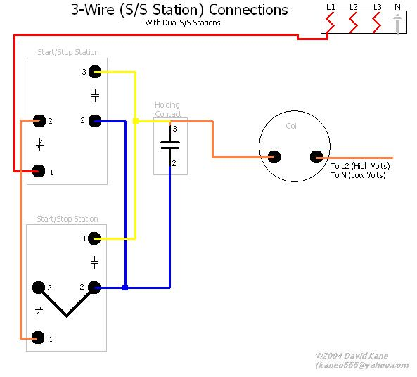 3wiredualss motor connections how to wire start stop switch diagrams at gsmx.co