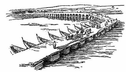 pontoon bridge persia