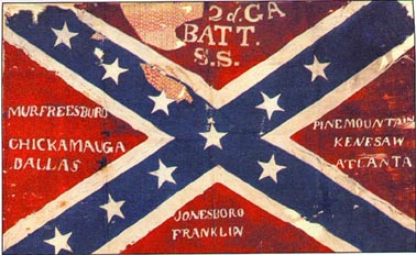 This is the battle flag of the 2nd Battalion Georgia Sharpshooters