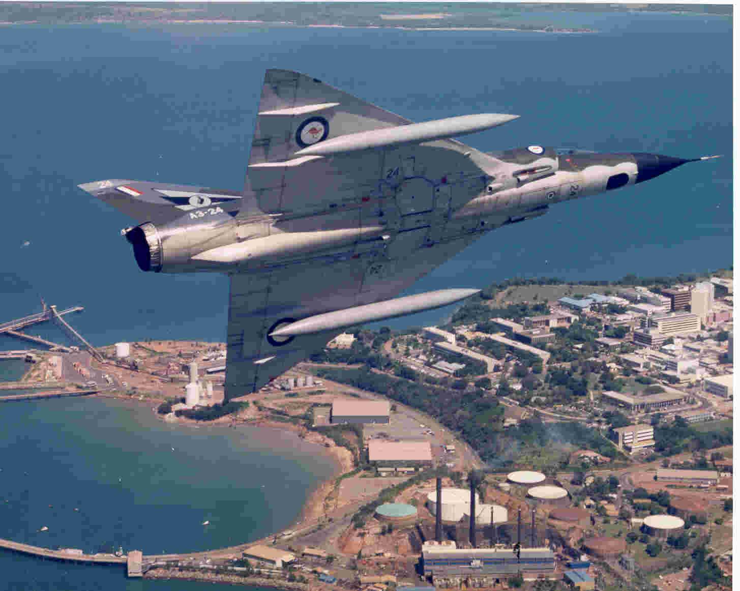 Dassualt Mirage III O of 75 Sqn over Darwin
