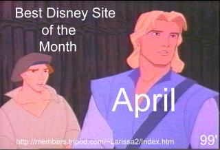Best Disney Site of the Month April '99