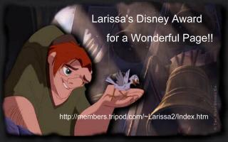 Larissa's Disney Award for a Wonderful Page!!