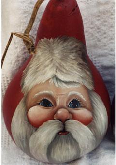 Santa Face on Gourd