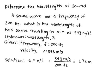 how to find the wavelength of a sound wave
