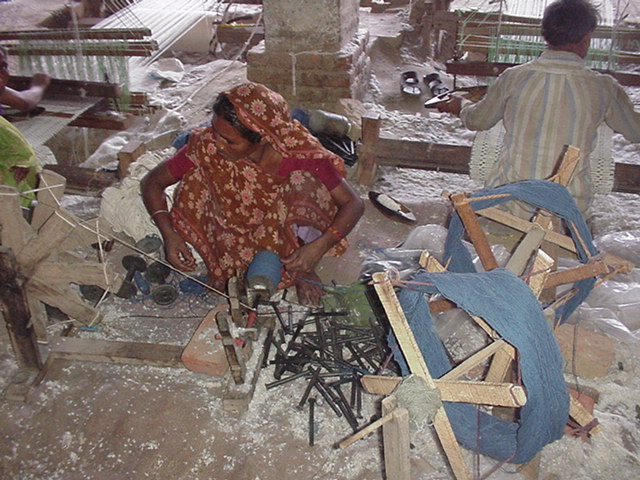 Making boben for weaver of handloom