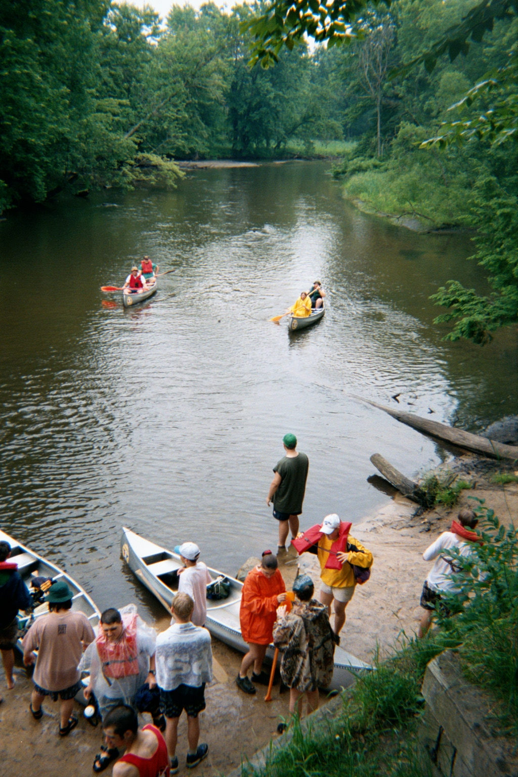 Canoeing The White River And Landing At Diamond Bend