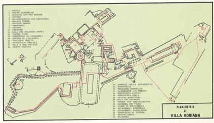 Planimetria Villa Adriana Tivoli
