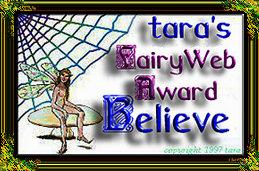 fairyweb award for belief