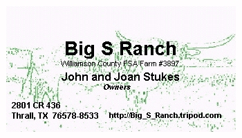 Welcome to the Big S Ranch