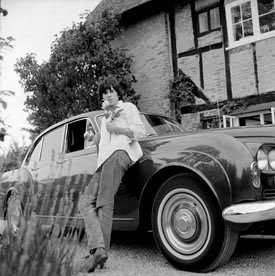 [Keith with his Bentley, the Blue Lena 1966]