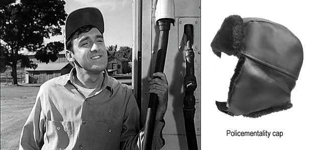 Gomer Pyle; policementality cap