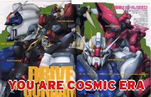 You're Cosmic Era - Check out Gundam Seed.  You may also like the original Mobile Suit Gundam.