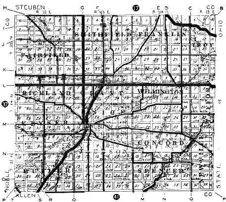 [DEKALB COUNTY 1917 ROADMAP]