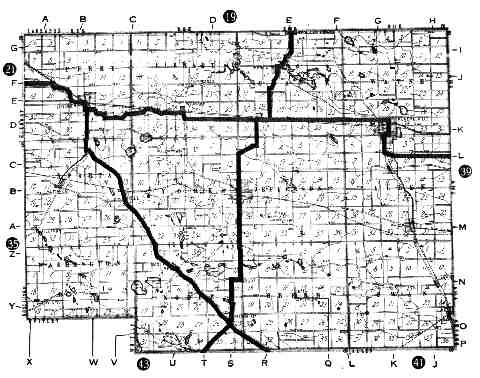 [NOBLE COUNTY 1917 ROADMAP]