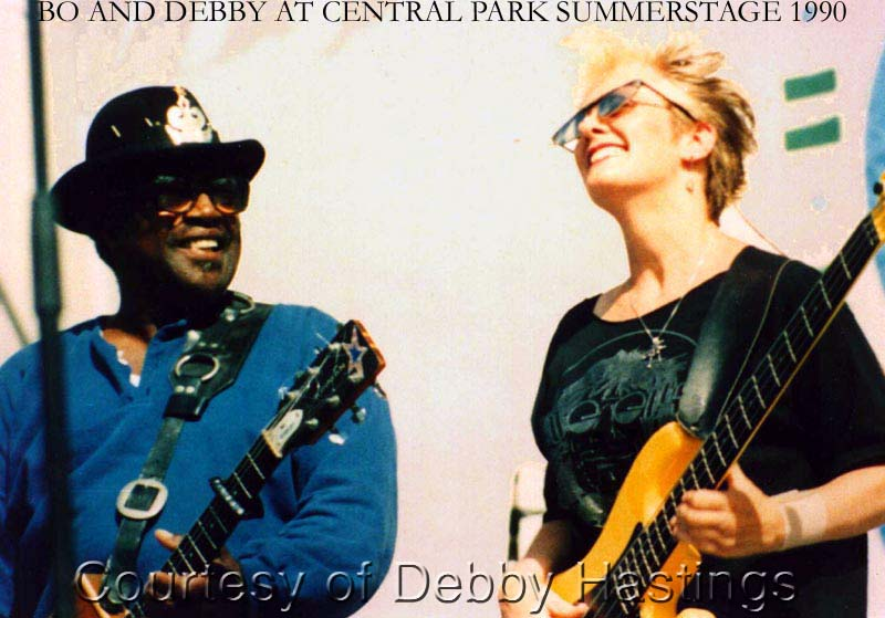 {Bo Diddley and Debby Hastings}