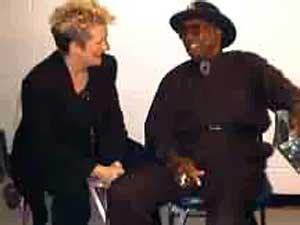 {Debby Hastings & Bo backstage}