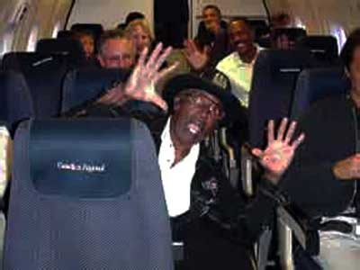 {Bo Diddley on a plane}