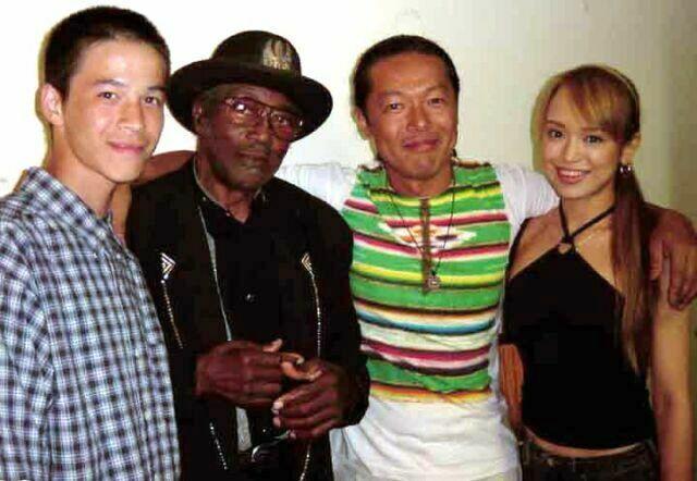 {Bo, Yoshi Shimada and Yoshi's son Ryusuke and daughter Aki}