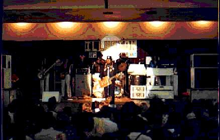 {Bo Diddley in concert with the band Illusion}