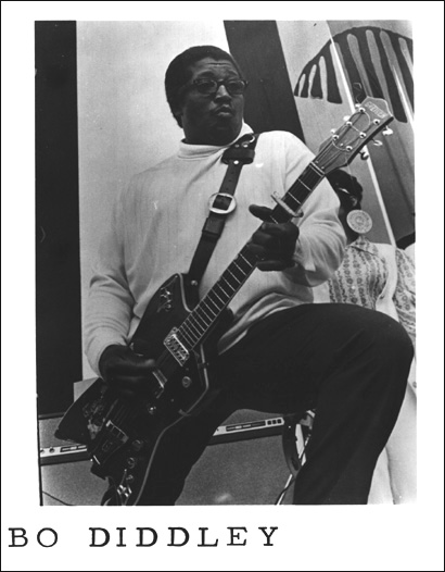 {Bo Diddley on-stage photo}