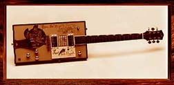 {Bo Diddley's oblong guitar}