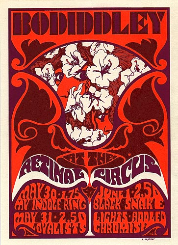 {Bo Diddley psychedelic poster}