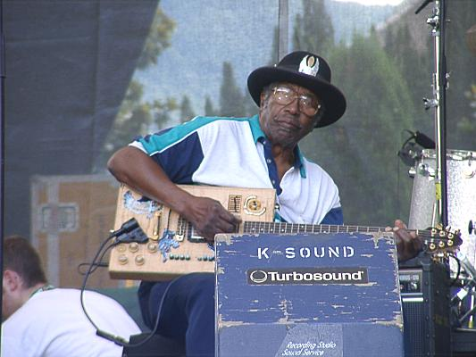 {Bo Diddley on-stage}