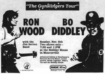 {Bo Diddley and Ron Wood poster}