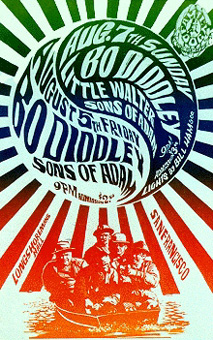 {Bo Diddley 1960s psychedelic poster}