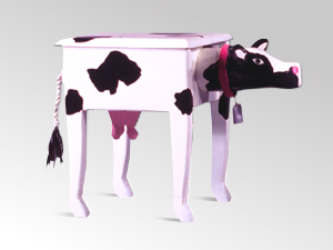 Cow Furniture Craft Room Accents Holstein Cows