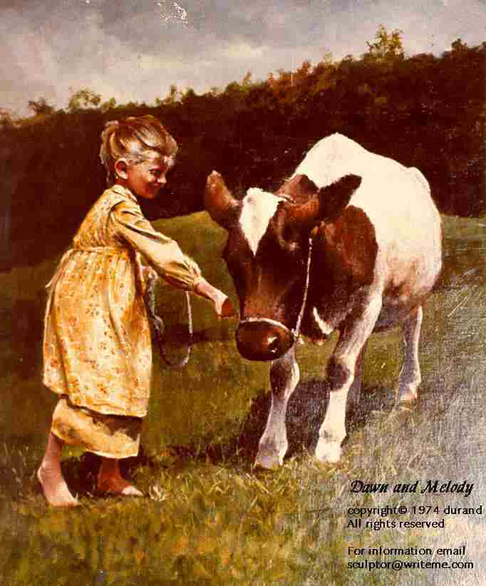 Child with Melody, Ayrshire Milk Cow