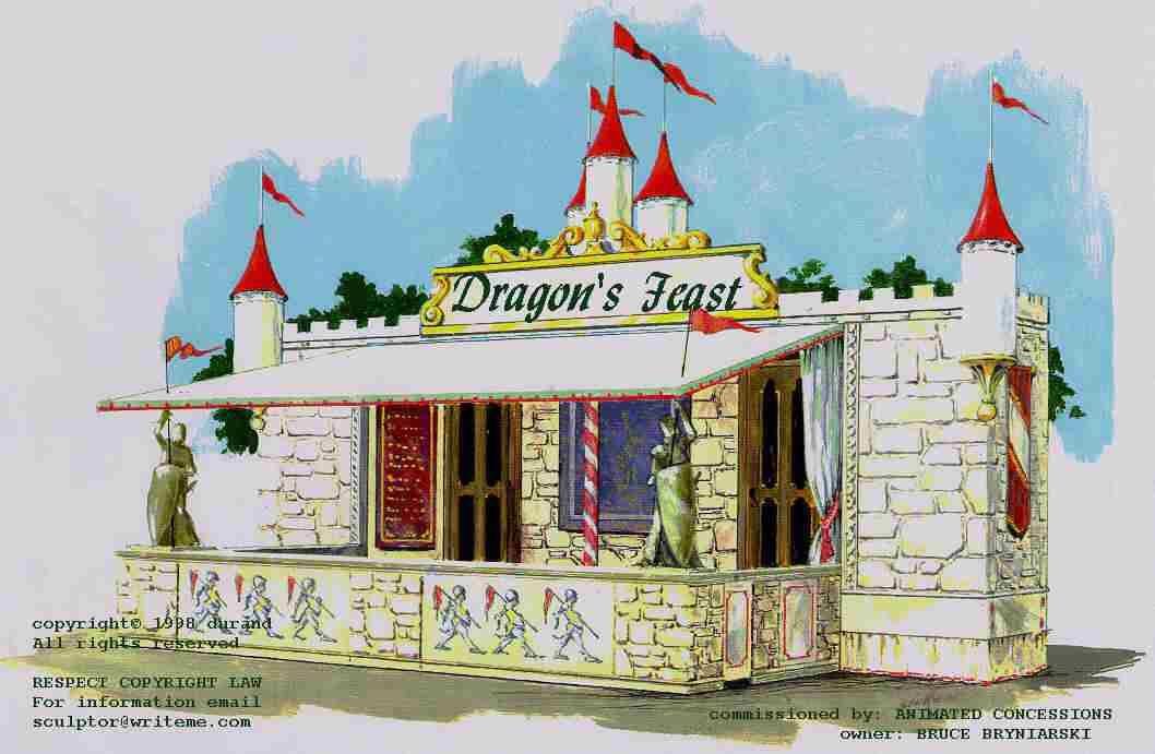 Dragon's Lair - Festival Rig, castle